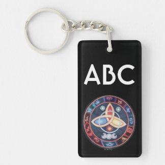 Western Astrology Wheel Sign Customizable Double-Sided Rectangular Acrylic Keychain