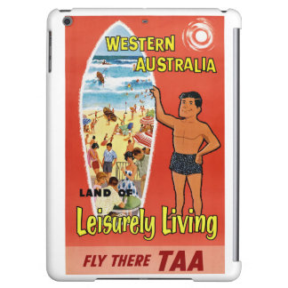 Western Australia Restored Vintage Travel Poster Cover For iPad Air