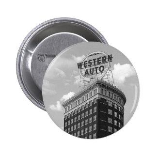 Western Auto Half Cylinder Building 2 Inch Round Button