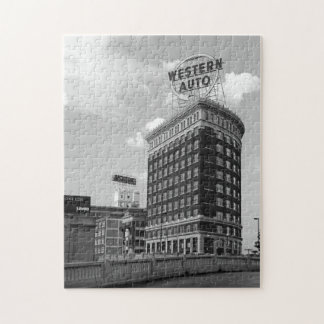 Western Auto Half Cylinder Building Jigsaw Puzzle