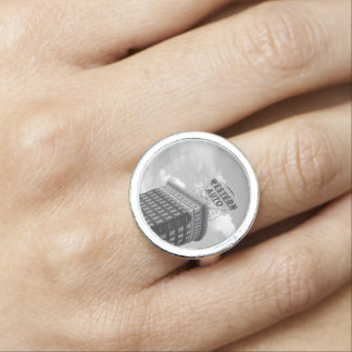 Western Auto Half Cylinder Building Photo Ring