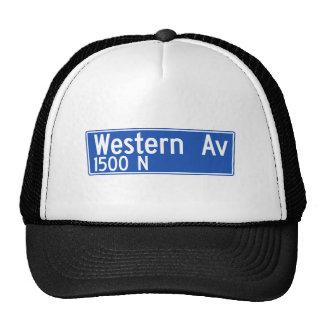 Western Avenue, Los Angeles, CA Street Sign Trucker Hat