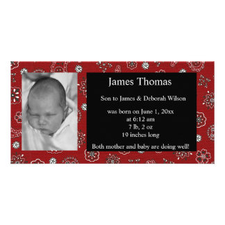 Western Baby Birth Announcement Personalized Photo Card