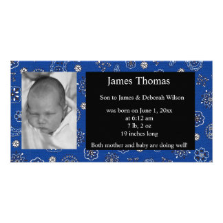 Western Baby Birth Announcement Picture Card