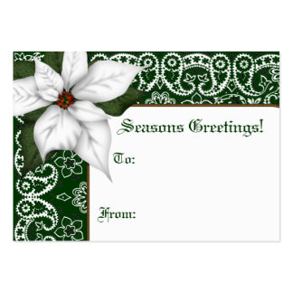 Western Bandana Holiday Gift Tags Large Business Card