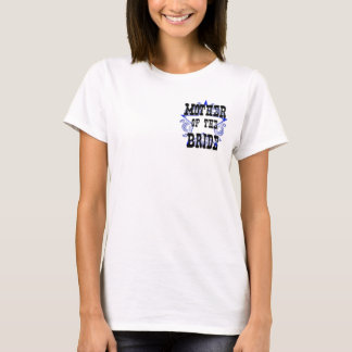 Western Blue Mother of the Bride Sheriff T-Shirt