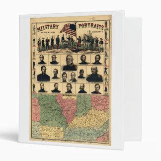 Western Boarder States Military Portraits (1861) Vinyl Binder