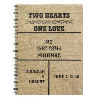 Western Burlap Wedding Journal