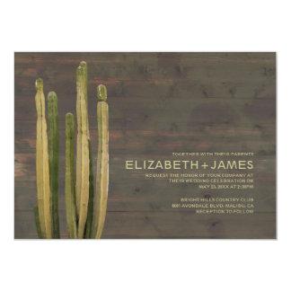 Western Cactus Wedding Invitations