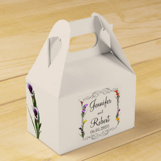 Western Calla Lily Posh Wedding Favor Box