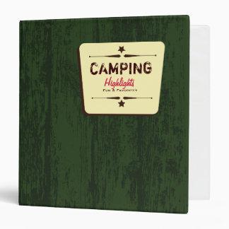 Western Camping Memories Binder