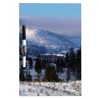 Western Canada mountains in winter Dry Erase Boards