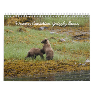 Western Canadian Grizzly Bears Wall Calendars