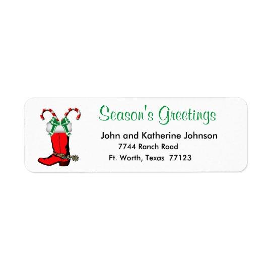 Western Christmas Cowboy Boot Season's Greetings