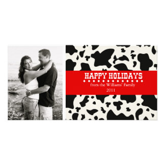 Western Christmas Photo Card