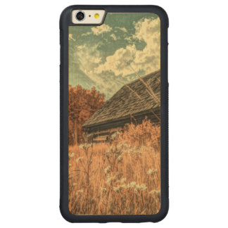 western country field wildflower farm Old Barn Carved Maple iPhone 6 Plus Bumper Case