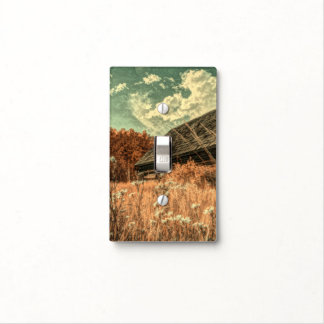 western country field wildflower farm Old Barn Light Switch Cover