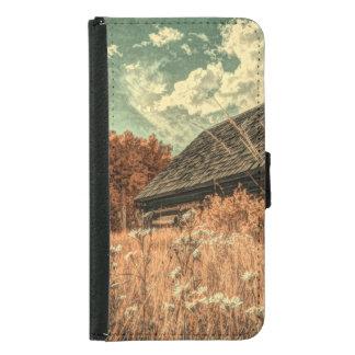 western country field wildflower farm Old Barn Samsung Galaxy S5 Wallet Case