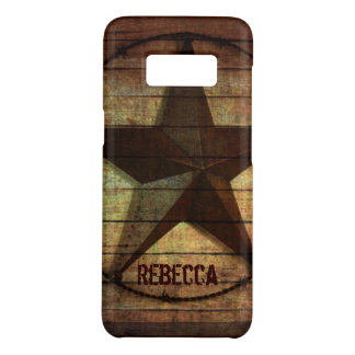 Western Country Primitive Barn Wood Texas Star Case-Mate Samsung Galaxy S8 Case