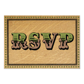 Western Country Rodeo Wedding RSVP Cards