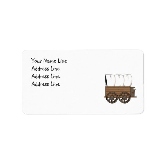 Western Covered Wagon - MED Return Address Label