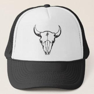 Western Cow Skull Trucker Hat