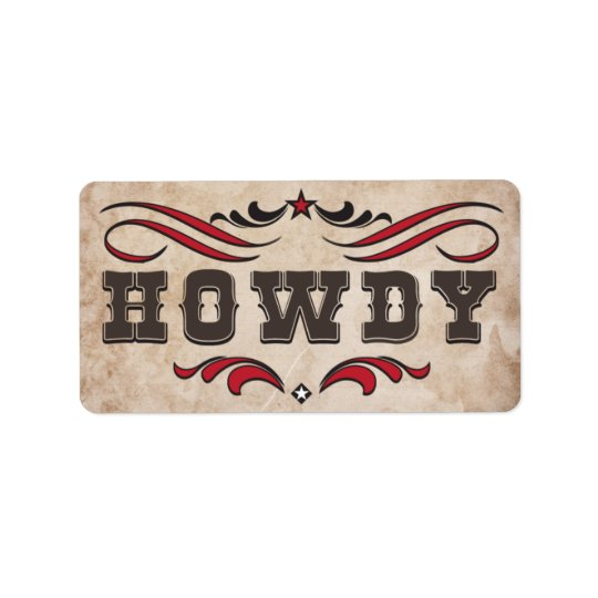 Western Cowboy Boots & Howdy Labels