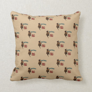 Western Cowboy Bronc Rider King of The Rodeo Throw Pillow