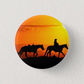 Western cowboy-Cowboy-texas-western-country 1 Inch Round Button