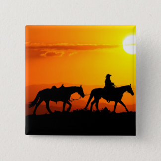 Western cowboy-Cowboy-texas-western-country 2 Inch Square Button