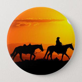 Western cowboy-Cowboy-texas-western-country 4 Inch Round Button