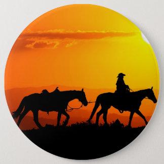 Western cowboy-Cowboy-texas-western-country 6 Inch Round Button