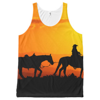 Western cowboy-Cowboy-texas-western-country All-Over-Print Tank Top