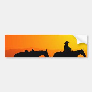 Western cowboy-Cowboy-texas-western-country Bumper Sticker
