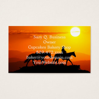 Western cowboy-Cowboy-texas-western-country Business Card