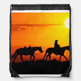 Western cowboy-Cowboy-texas-western-country Drawstring Bag