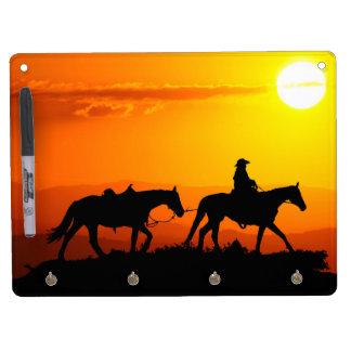 Western cowboy-Cowboy-texas-western-country Dry Erase Board With Keychain Holder