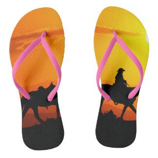 Western cowboy-Cowboy-texas-western-country Flip Flops