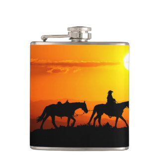 Western cowboy-Cowboy-texas-western-country Hip Flask