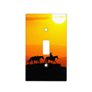Western cowboy-Cowboy-texas-western-country Light Switch Cover