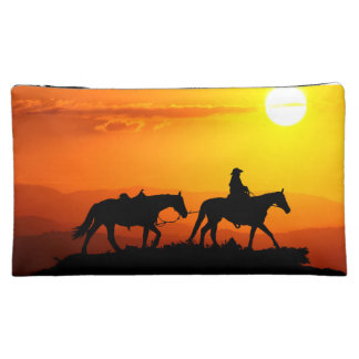 Western cowboy-Cowboy-texas-western-country Makeup Bag