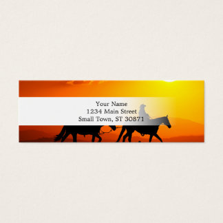 Western cowboy-Cowboy-texas-western-country Mini Business Card