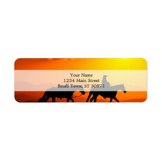 Western cowboy-Cowboy-texas-western-country Return Address Label