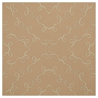 Western Cowboy Rope Lasso Print Fabric