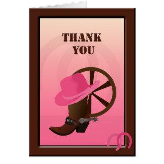 Western Cowgirl Custom Thank You Note Card