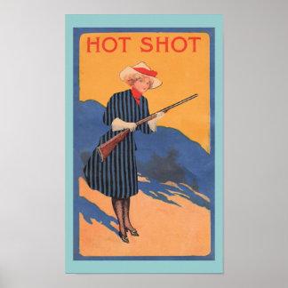 Western Cowgirl Hot Shot Print