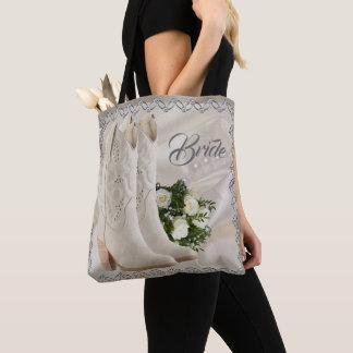 Western Cowgirl Wedding Bride Tote Bag