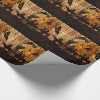 Western Cowgirls and Cowboys on Horseback Wrapping Paper
