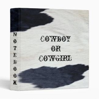 Western Cowhide Look Pattern ~ Avery Binder
