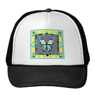 Western Deco  Butterfly Art By Sharles Trucker Hat